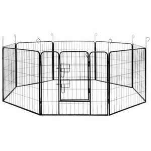 "ALEKO DK32X32 Heavy Duty Pet Playpen Dog Kennel Pen Exercise Cage Fence, 8-Panel, 32"" x 32"""