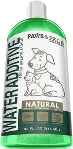 Paws & Pals Pet Water Additive for Fresh Breath Teeth Plaque Tarter Remove Fresh Dog Dental Care