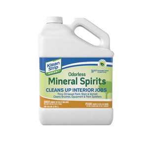 WM Barr Klean Strip Household Paint Thinners & Solvents Green Odorless Mineral Spirits, 128 Fl. Oz.