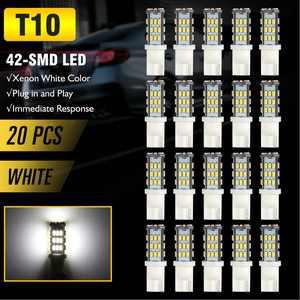 TSV 20x T10 921 192 194 Wedge RV Trailer 42-SMD LED Super Bright 3500K Warm White Car Backup Reverse Interior Light Bulbs