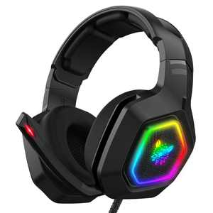 ONIKUMA K10 Gaming Headset,Stereo Bass Surround RGB Noise Cancelling Over Ear Headphones with Mic,for PS4 Xbox One PC Nintendo Switch Tablet Smartphone
