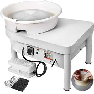 VEVOR 25CM Pottery Wheel Pottery Forming Machine 280W Electric Wheel for Pottery with Foot Pedal and Detachable Basin Easy Cleaning for Ceramics Clay Art Craft DIY