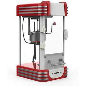 KAPAS Popcorn Machine, Red Tabletop Popcorn Maker with Accessories