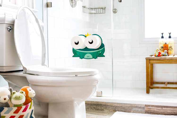 KooKooLoos Potty Training Accessory and Toliet Paper Holder, Frog