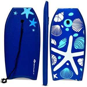 Goplus 37'' Lightweight Super Bodyboard Surfing W/Leash EPS Core Boarding IXPE Starfish