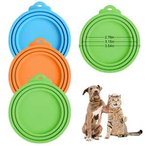 3Pcs Pet Silicone Covers for Cat and Dog Canned Food Storage - Universal Food Can Lids Fitting Tops for All Standard Size Cans - FDA Approved - Dishwasher Safe - Keeps Food Fresh