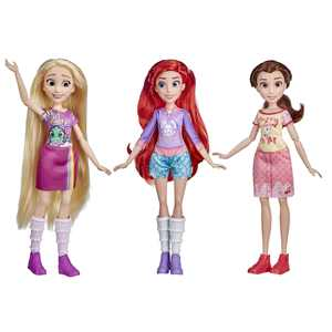 Disney Princess Comfy Squad Sugar Style 3-Pack, Inludes 3 Outfits and 3 Pairs of Shoes