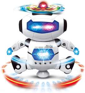 Electronic Walking Dancing Robot Toys With Music Lightening For Kids Boys Girls Toddlers, Battery Operated Robot Toy for Birthday Gift, Christmas, Easter