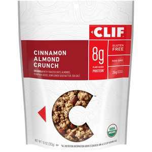 CLIF Granola, Gluten Free, Organic, Cinnamon Almond, 10 oz (Packaging May Vary)