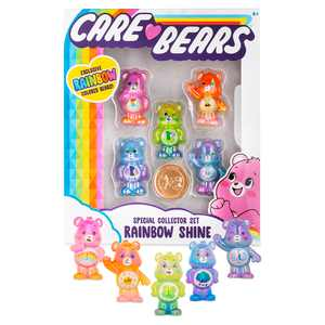 NEW Care Bears - Collectible Figures - Special Collector Set - Rainbow Colored Bears!