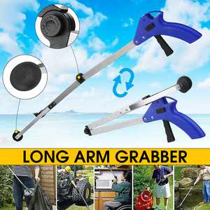 31inch Folding Pick Up Helping Hand Reacher Grabber Pickup Tool Long Handy Arm Mobility Aid Extension Tool Trash Mobility for Trash Pick Up,Litter Picker,Garden Nabber