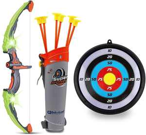 Bow and Arrow Set for Kids -Green Light Up Archery Toy Set