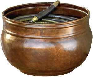 Liberty Garden LBG-1901 Decorative Vintage Steel Rustic Garden Hose Storage Pot