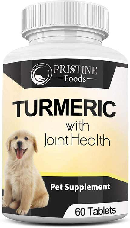 Turmeric Hip & Joint Supplements for Dogs, Glucosamine for Dogs, with Best Anti Inflammatory for Dogs Arthritis Pain Relief Supplements For Dogs, 60 Chewable Tablets