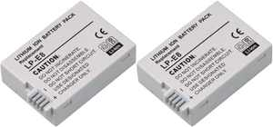 Replacement Battery For Canon LP-E8 1120mAh Fits EOS 550D REBEL T2i T3i (2 Pack)
