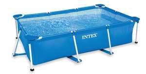 """Intex 28270E 86"""" x 59"""" x 23"""" Rectangular Above Ground Baby Splash Swimming Pool"""