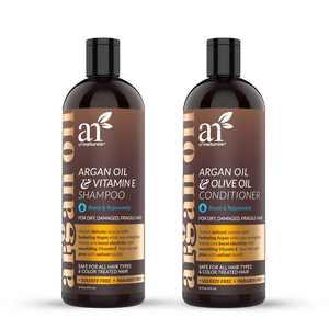 Artnaturals Moroccan Argan Oil Shampoo & Conditioner Set Hair Loss Treatment (2 x 16 oz / 473 ml)