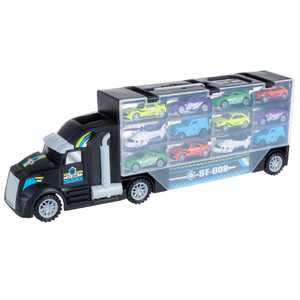 Rockin Rollers Semi Truck Car Carrier Toy 2-Sided Holds 24 Cars