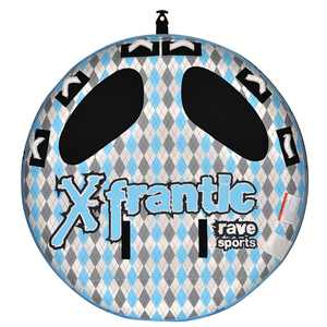 Rave Sports 02407 X Frantic 3 Rider Inflatable Water Float Towable Boat Tube