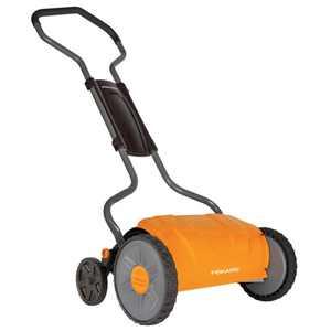 """Fiskars 17"""" Staysharp Push Reel Lawn Mower, 1pc, 362080-1001"""