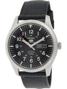 Seiko Men's 5 Automatic SNZG15K Black Nylon Self Wind Fashion Watch