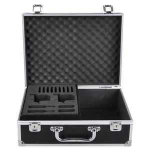 "Yescom 12.6"" x 9.8"" x 4.6""  Aluminum Framed Locking Hard Storage Box Potable Carry Case Hand Tool Box Black"