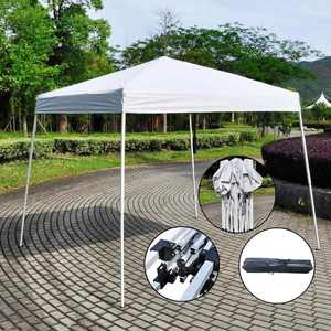 Zimtown 10' x 10' Canopy Tent EZ Pop Up Wedding Party Tent Folding Gazebo Canopy White