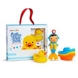 Munchkin Baby's First Bath Bundle Gift Set, Includes (3) Munchkin Bath Time Favorites