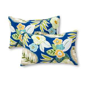 Marlow Floral 19 x 12 in. Outdoor Rectangle Accent Pillow, Set of 2
