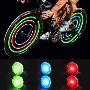 Meidong Bike Wheel Lights Bike Spoke Lights with Batteries Included, Waterproof Bicycle Wheel Lights for Safe Cycling, Easy to Install Cool Bike Lights for Wheels (6 Pack)