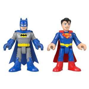 Imaginext DC Super Friends Batman + Superman XL Action Figure Set,2 Pack