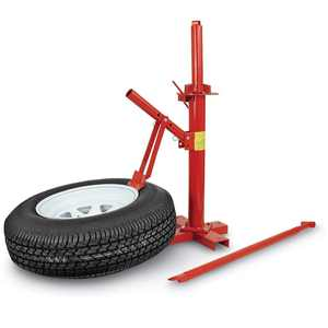 XtremepowerUS Manual Portable Tire Changer Bead Breaker Manual Tool Mounting Home Shop Auto, Red
