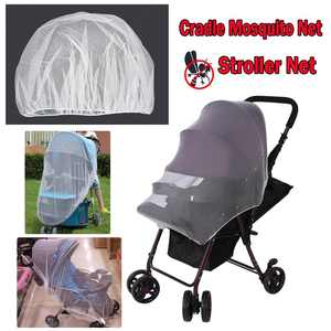HERCHR Baby Stroller Mosquito Net, Mosquito Bug Net Insect Netting Cover for Baby Stroller Pram, Buggy, Infant Carriers, Car Seats, Cradles, Cribs, Bassinets, Playpens, Insect Netting Full Mesh Cover