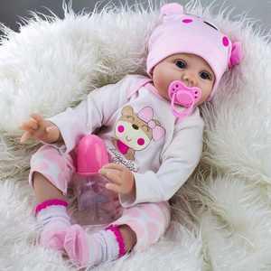 "Ktaxon 22""Lifelike Newborn Silicone Vinyl Reborn Gift Baby Dolls Handmade Full Body"
