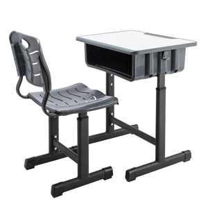 Zimtown Children Desk and Chair Set, Kids Desk Adjustable Height Study Table, Kids Interactive Workstation with Drawers Storage for Bedrooms Kindergarten School