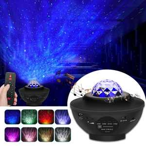 MeAddHome LED Star Night Light Music Starry Water Wave Projector with 21 Lighting Modes Bluetooth Music Player Remote Control Timer USB Powered Sound-Activated Decor Party Birthday Wedding
