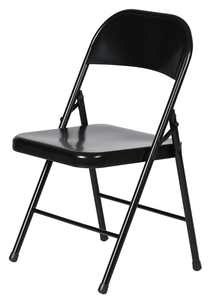 Metal Folding Chair (4-Pack) in Black, Plastic Development Group