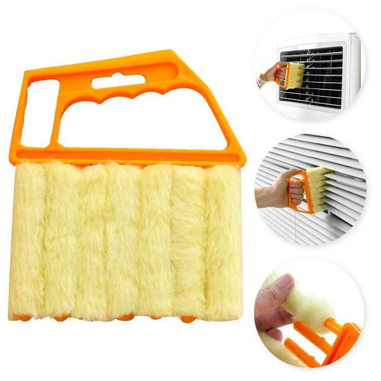 YOSOO Home Cleaning Supplies -mini Hand-held Cleaner Blind Blade Cleaner Window Conditioner Duster Clean Brush Dirt Clean Cleaner Used For Car , Fan , Shoes , Office , Home