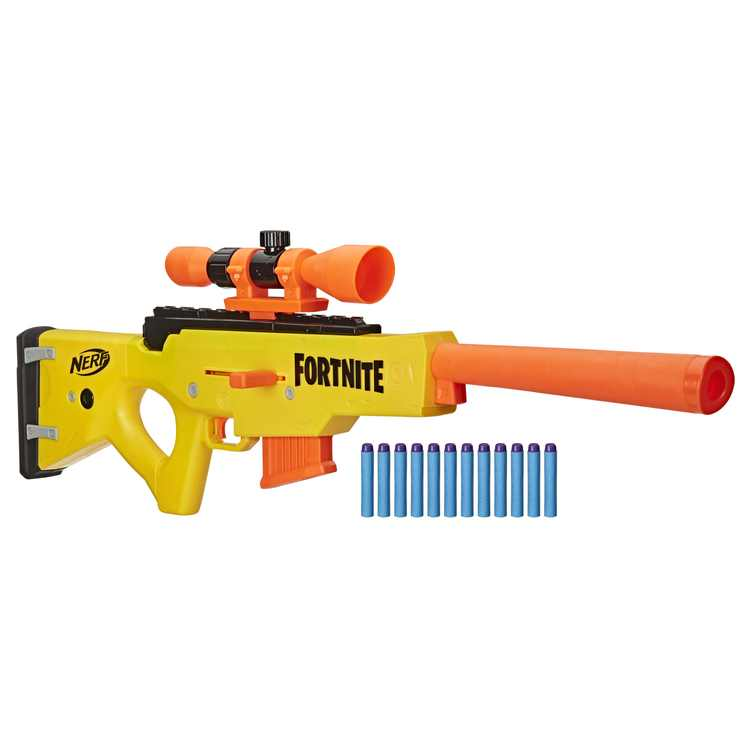 Nerf Fortnite BASR-L Blaster, Includes 12 Official Nerf Darts, for Ages 8 and Up