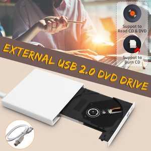White USB 2.0 External DVD Combo CD-RW Burner Drive Cdrw DVD Rom for PC