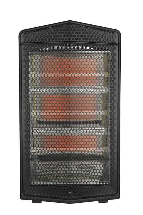 Mainstays 1500W Quartz Electric Space Heater, WSH20Q3ABB, Black