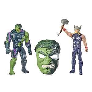 Spider-Man Maximum Venom Titan Hero Thor Vs. Venomized Hulk Action Figure