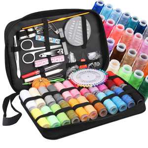 126pcs Sewing Kits, EEEkit Home Travel and Emergency Sewing Supplies, XL Sewing Kit for DIY, Large Basic Sewing Kit with Scissors, Thimble, Thread, Needles, Tape Measure, Carrying Case and Accessories