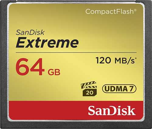 SanDisk - Extreme 64GB CompactFlash (CF) Memory Card