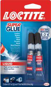Loctite Super Glue Liquid Tube, 2 pack, 0.07 oz