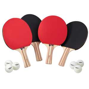 Viper Four Racket Table Tennis Set, Includes 4 Paddles and 6 Ping Pong Balls