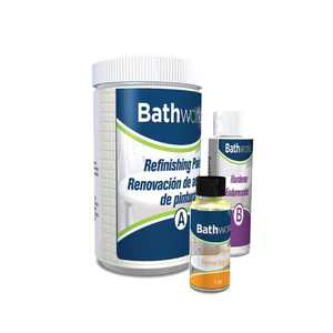 BATHWORKS 20 oz. DIY Bathtub and Tile Refinishing Kit- White