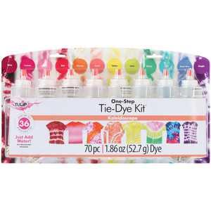 Tulip 12 Color One-Step Tie-Dye Kit Kaleidoscope, Bright Colors, DIY Tie-Dye