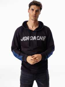 Jordache Vintage Men's Adam Mixed Fabric Hoodie