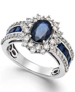 Sapphire (2-1/5 ct. t.w and Diamond (3/4 ct. t.w.) Ring in 14k Gold